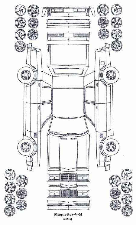 Chrysler New Yorker 5th Avenue / Chrysler LeBaron maquette / paper model (by me)