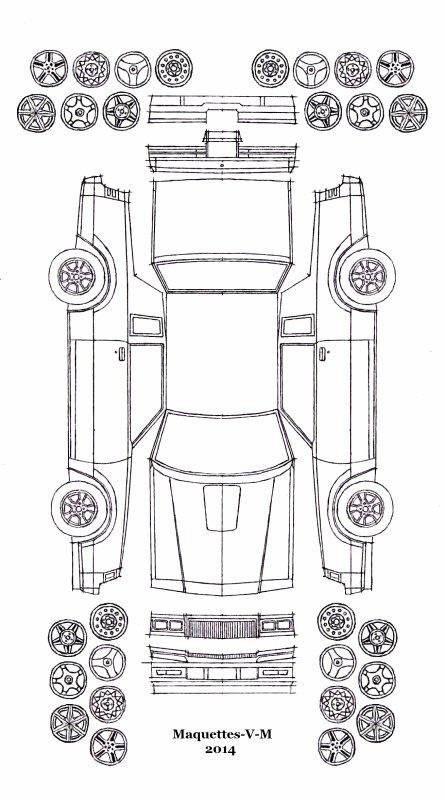 Buick Regal 1981-1987 maquette / paper model (by me)