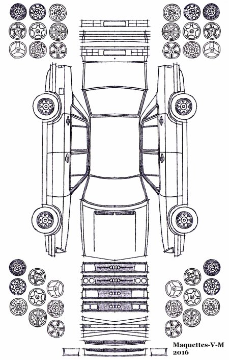 Audi 100 / 200 / 5000 maquette (by me)