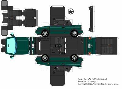 Volkswagen Golf 3 maquettes / paper models