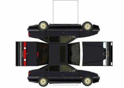 Alfa Romeo 164 maquette / paper model
