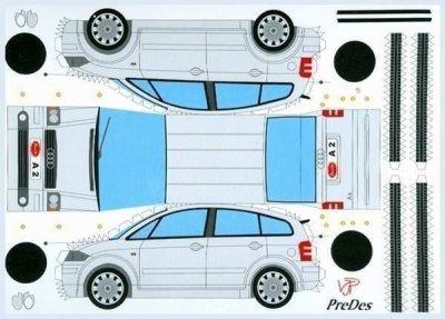Audi A2 maquette / paper model