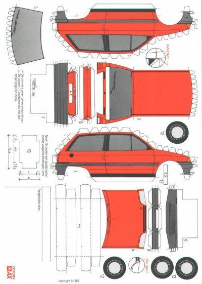 Citroën AX maquette / paper model