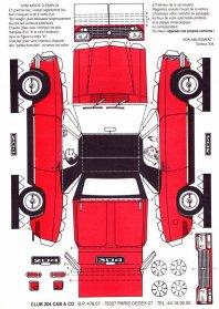 Peugeot 204 & 304 maquettes / paper models