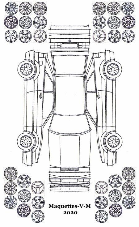 Volkswagen Corrado maquette / paper model (by me)