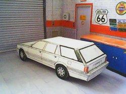 Peugeot 505 USA Station Wagon maquette résultat (by me)