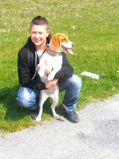 Ma beagle Elisca & moi !