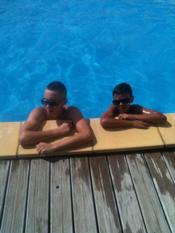 moi a la piscine ak mon colegue