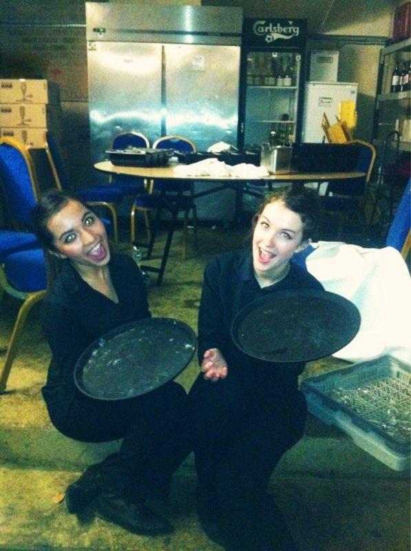 Working haha - waitress
