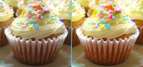 Coloring cupcakes