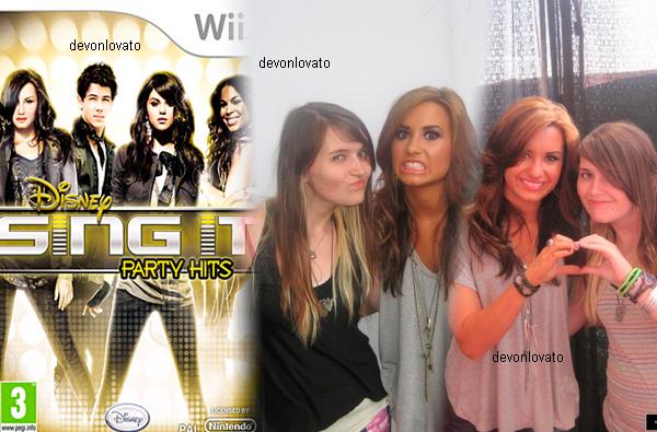 DISNEY SING IT PARTY HITS   !                                                                       On le savais tous que Disney c'était lancée dans les jeux vidéo . Il ont trouver une bonne excuse pour en refaire un ! De nouvelles starlettes ! ( Justin Bieber etc ... ) on prend du Demi Lovato, Selena Gomez, Justin Bieber, Black Eyed Peas, Jordin Sparks, Nick Jonas & The Administration, Paramore, Kelly Clarkson on mélange le tout et voilà un Disney sing it party hits ! Ce jeu sort au U.S.A le 12 Octobre 2010 et en au Royaume Unis le 24 spetembre 2010 , nous ne savons pas encore la date française mais le jeu sera compatible avec les console : Wii , PS2 et PS3 Bonus : Voici quelque photo avec ses fans dans les coulisses de la tounée