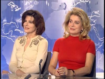 Fanny Ardant et Catherine Deneuve au 20h - Fanny Ardant et ...
