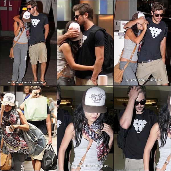 25 Août 2010 : Fini les Vacances. pour notre sublime couple zanessa épart de Maui, retour à LA.  26 Août 2010 : Notre sublime couple zanessa arrivant LAX aeroport.
