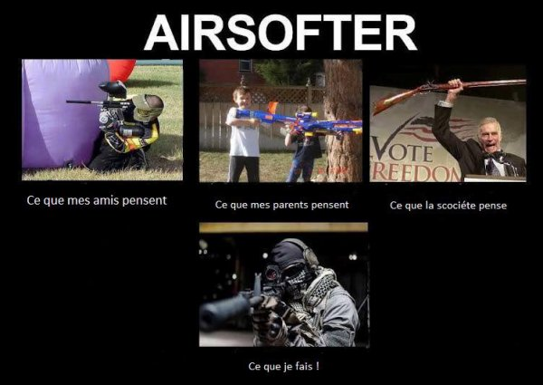L'airsoft sous différents angles ^^
