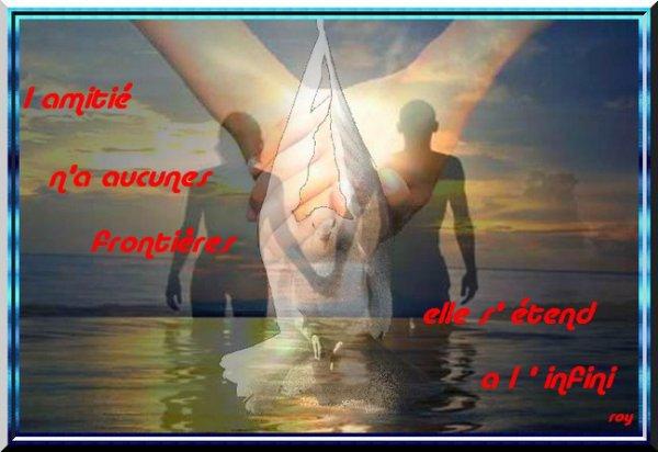 Savoir aimer sincèrement ses amis....Leur venir en aide à tout moment en cas de besoin.....Ne leur livrer que la vérité....Les considérer comme un autre soi-meme.....Ne jamais blesser un ami car....car toutes les blessures s'oublient sauf celle de l'ami.....Mieux que tout autre rapport, l'amitié peut durer jusqu'à l'infini....Il faut savoir aimer pour se faire aimer. VOICI UN ECRIT SUR CE NOBLE RAPPORT MAIS D'UN AUTEUR INCONNU