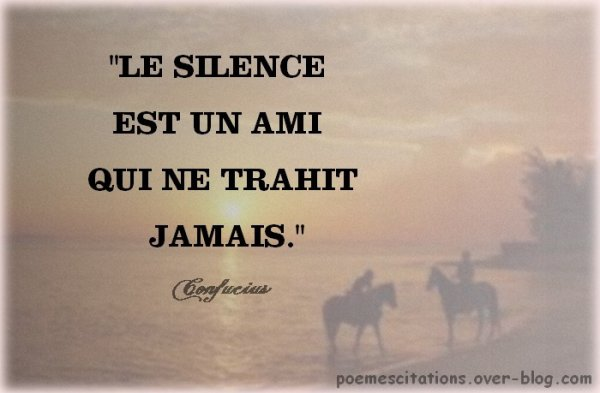 SEUL LE SILENCE EST GRAND