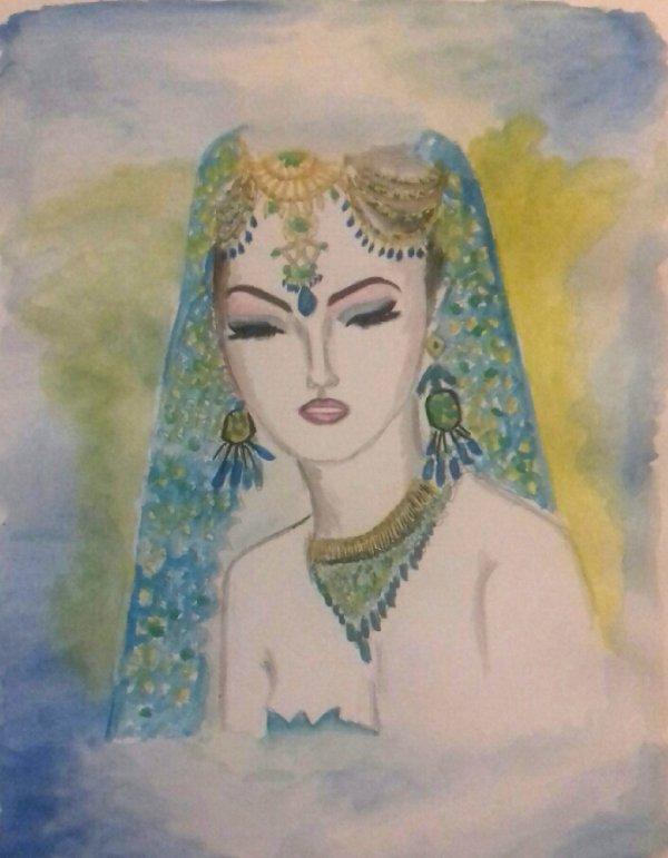 FEMMES INDIENNES - tableau de mon amie kim, de l'Île de la réunion-