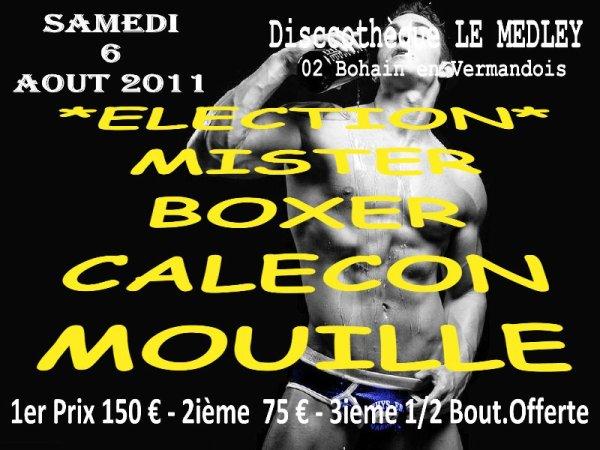 SAMEDI 6 AOUT 2011 - ELECTION DE MISTER Boxer Ou Caleçon Mouillé