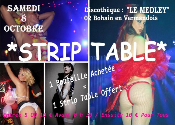 SAMEDI 8 OCTOBRE 2011 - STRIP TABLE