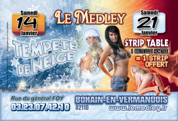 SAMEDI 14 JANVIER 2012 - TEMPETE DE NEIGE   /  SAMEDI 21 JANVIER 2012 - STRIP TABLE