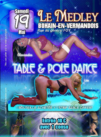 "SAMEDI 19 MAI 2012 - ""TABLE DANCE"" & ""POLE DANCE"""