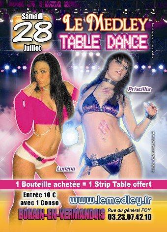 SAMEDI 28 JUILLET 2012 - TABLE DANCE