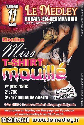 "SAMEDI 11 AOUT 2012 - "" ELECTION Miss Tee-Shirt Mouillé"""