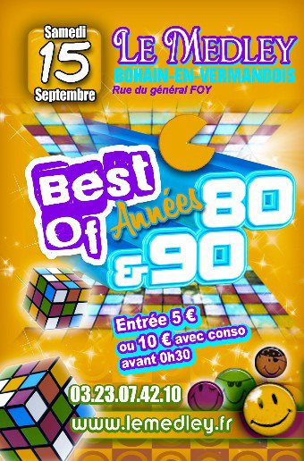 SAMEDI 15 SEPTEMBRE 2012 - SOIREE ANNEES 80/90