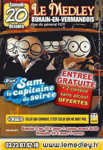 SAMEDI 20 OCTOBRE 2012 - CAPITAINE DE SOIRÉE