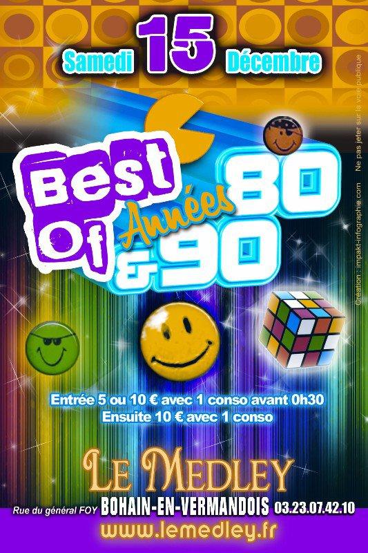 SAMEDI 15 DECEMBRE 2012 - SOIREE ANNEES 80 / 90
