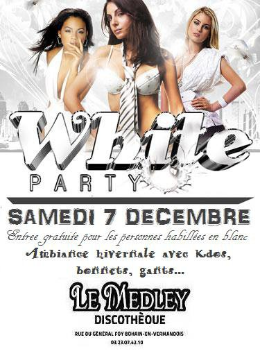 SAMEDI 7 DECEMBRE 2013 - WHITE PARTY