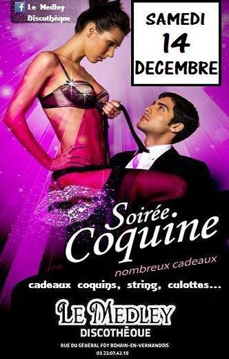 SAMEDI 14 DECEMBRE 2013 - SOIREE COQUINE