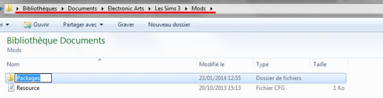 """• Comment installer un fichier Package / Créer le dossier """"Mods"""" •"""