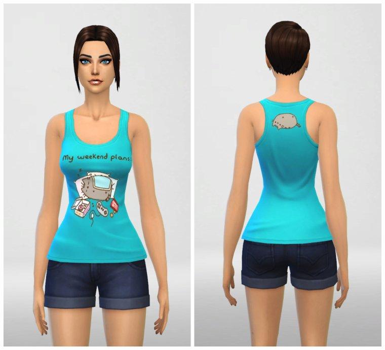 • Top Pusheen pour Sims 4 •