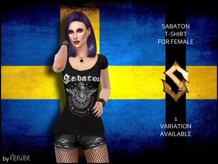 • T-shirt femme Sabaton •