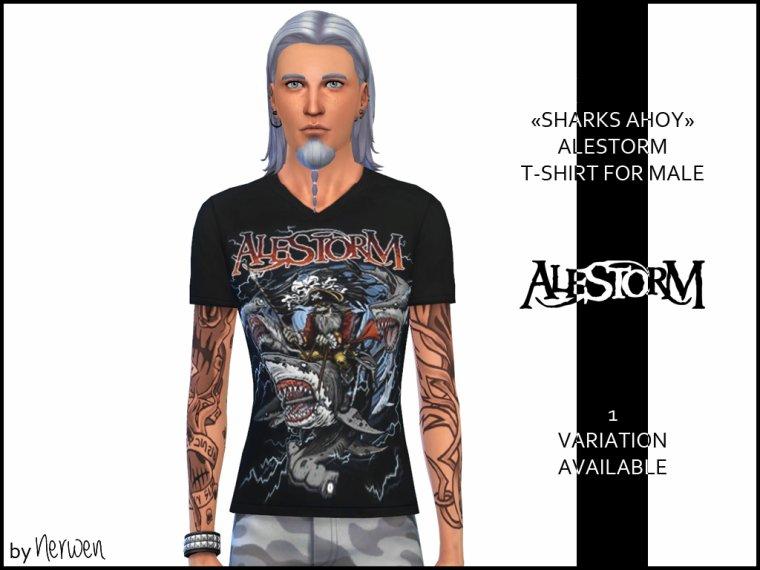 • T-shirt homme Alestorm - Sharks Ahoy ! •