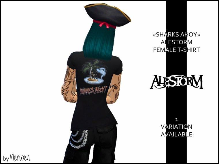 • T-shirt femme Alestorm - Sharks Ahoy ! •