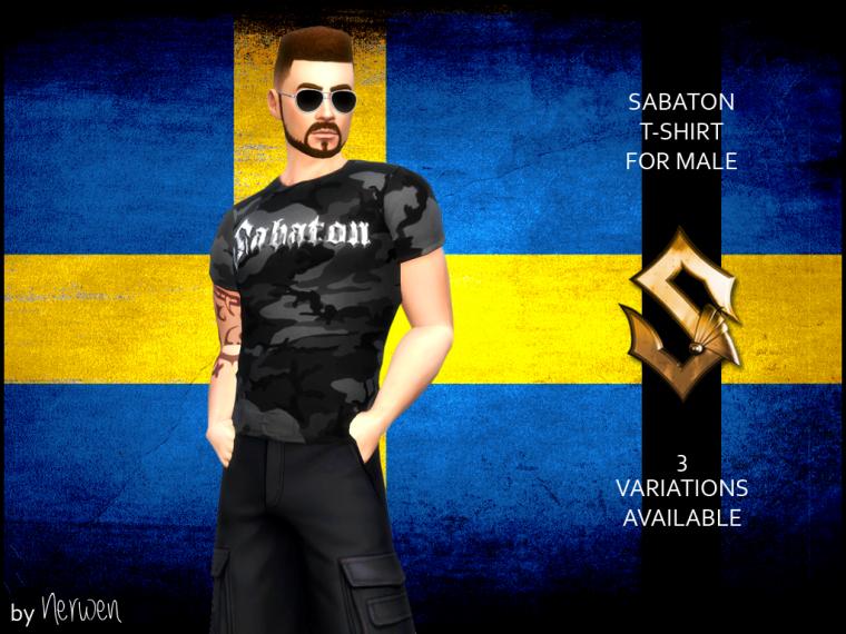 • T-shirt Sabaton pour Hommes •