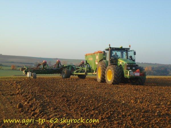 Semis de blé 2011 dans l'Aisne (02)