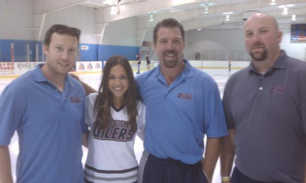jana a The oilers ice center