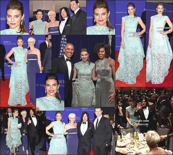 25/04/15: Lauren et Norman étaient au 101e « Annual White House Correspondents' Association Dinner » - WA. Lauren était sublime! Par contre, je ne trouve pas que son maquillage va bien avec la couleur de la robe qu'elle portait. Tu en pense quoi?