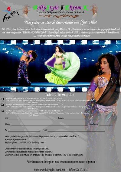 Stage de dansen orientale avec Gul Nihal le 4 et 5 Juin 2011