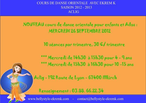 Cours de danse orientale - Saison 2012 - 2013