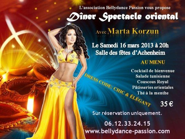 Stage de danse orientale avec MARTA KORZUN
