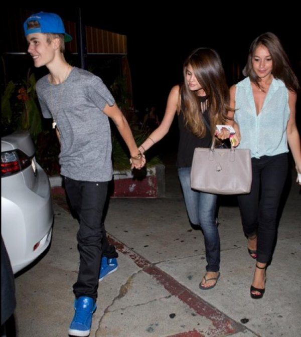 Justin et Selena en amoureux!