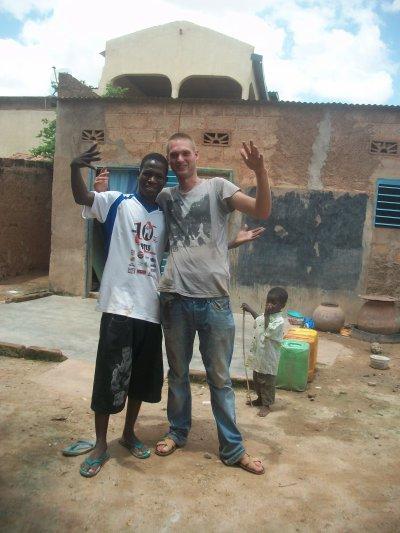 Moi et un ami Hollande CS lors de son séjour au Burkina Faso
