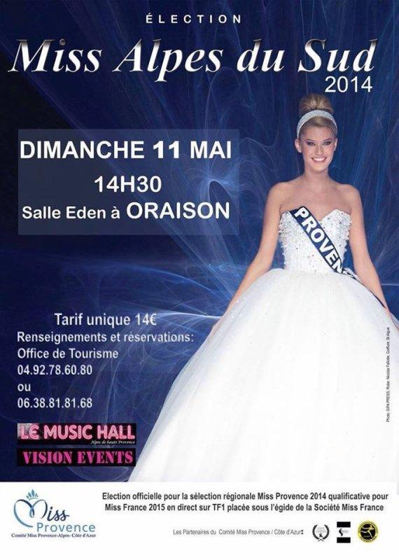 C'est bientôt l'élection de Miss Alpes du Sud 2014 !!!