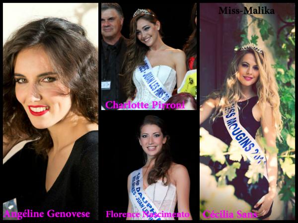 Les actuelles candidates au titre de Miss Côte d'Azur 2014
