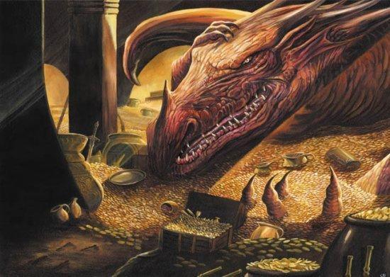 Smaug, le dragon de la Montagnes Solitaires