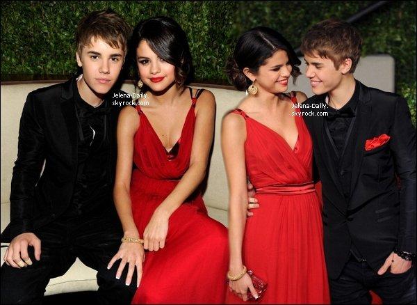 _DIMANCHE 27 FEVRIER____ Justin et Selena à la Vanity Fair Oscar Party.